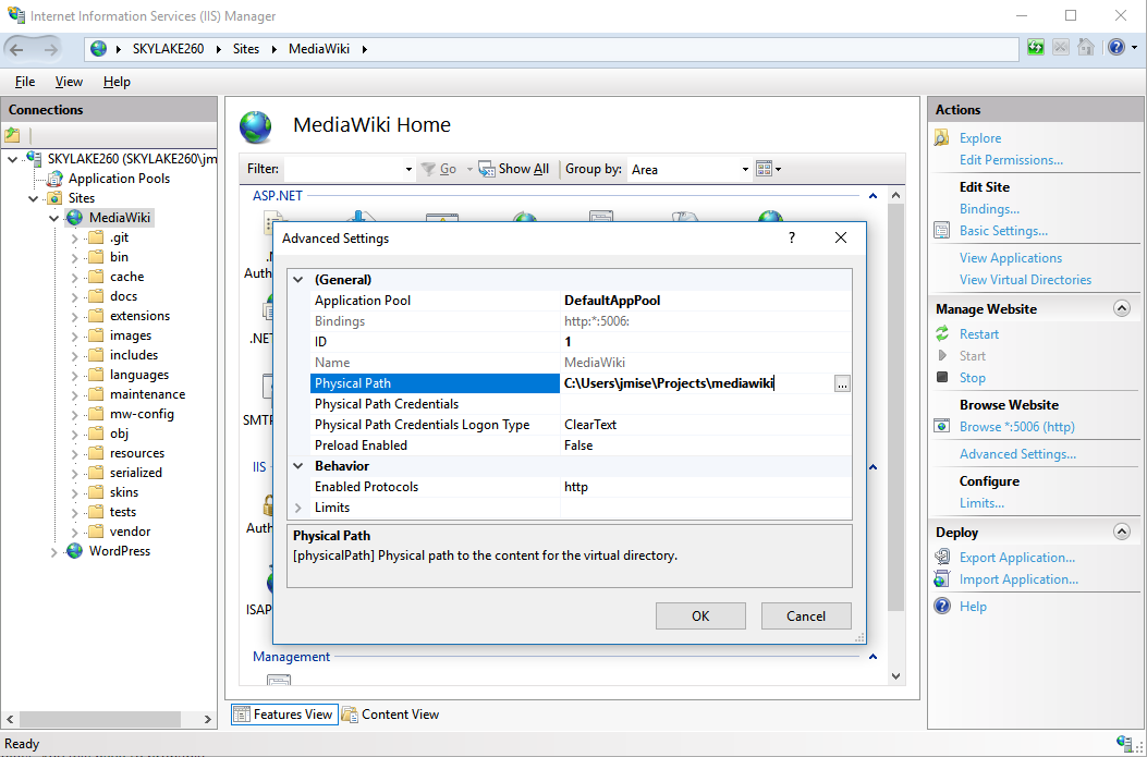 Setting up MediaWiki on  NET with Peachpie @ PeachPie   PHP compiler